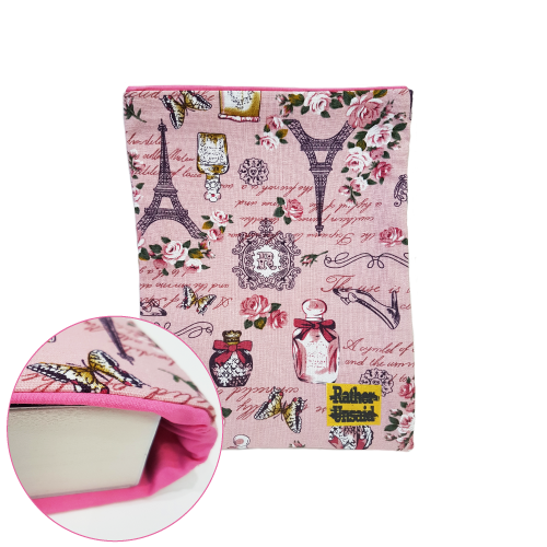 Picture of Book Sleeve - Pink Paris Print  (Trade Books)