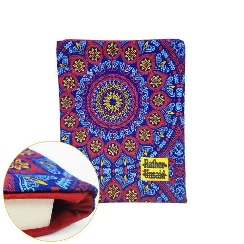 Picture of Book Sleeve - Blue & Red Mandala (Paperback Books)