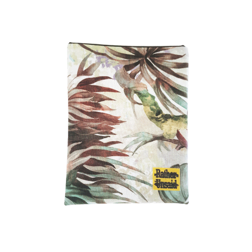 Picture of Book Sleeve - Green leave + Flower (Paperback Books)