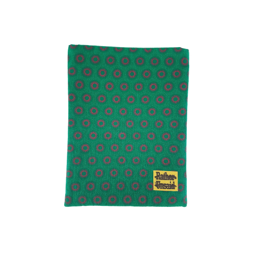 Picture of Book Sleeve - Green and Red African Print  (Trade Books)