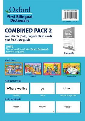 Picture of First bilingual dictionaries: Combined pack 2 : Wall charts 5–8, English flash cards plus free user guide : Foundation phase