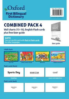 Picture of First bilingual dictionaries: Combined pack 4 : Wall charts 13–16, English flash cards plus free user guide : Foundation phase