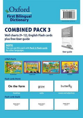 Picture of First bilingual dictionaries: Combined pack 3 : Wall charts 9–12, English flash cards plus free user guide : Foundation phase