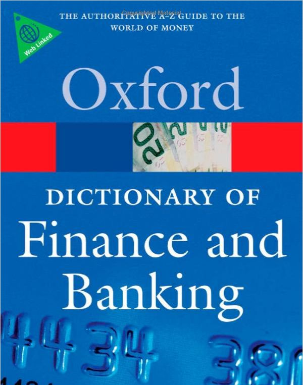 Picture of A Dictionary of Finance and Banking