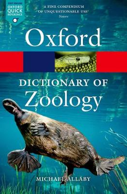 Picture of A Dictionary of Zoology