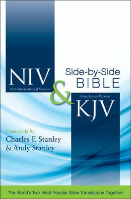 Picture of NIV, KJV, Side-by-Side Bible, Leathersoft, Tan/Burgundy : God's Unchanging Word Across the Centuries