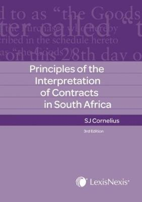 Picture of Principles of the interpretation of contracts in South Africa