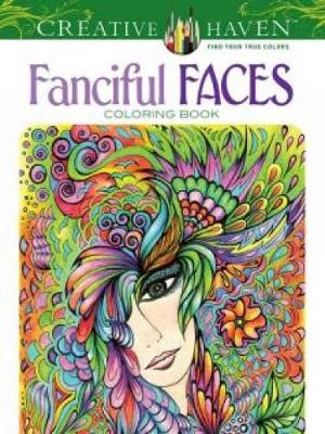 Picture of Creative Haven Fanciful Faces Coloring Book