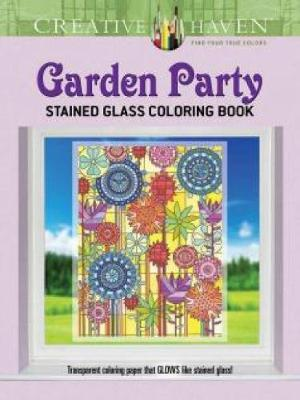 Picture of Creative Haven Garden Party Stained Glass Coloring Book
