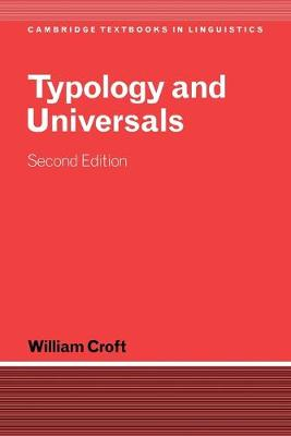Picture of Cambridge Textbooks in Linguistics: Typology and Universals