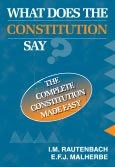 Picture of What does the constitution say?