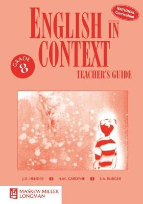 Picture of English in Context: Grade 8: Teacher's Guide