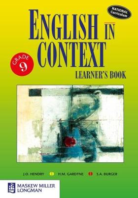 Picture of English in Context: Grade 9: Learner's Book
