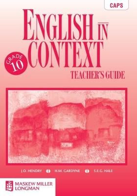 Picture of English in Context: Grade 10: Teacher's Guide