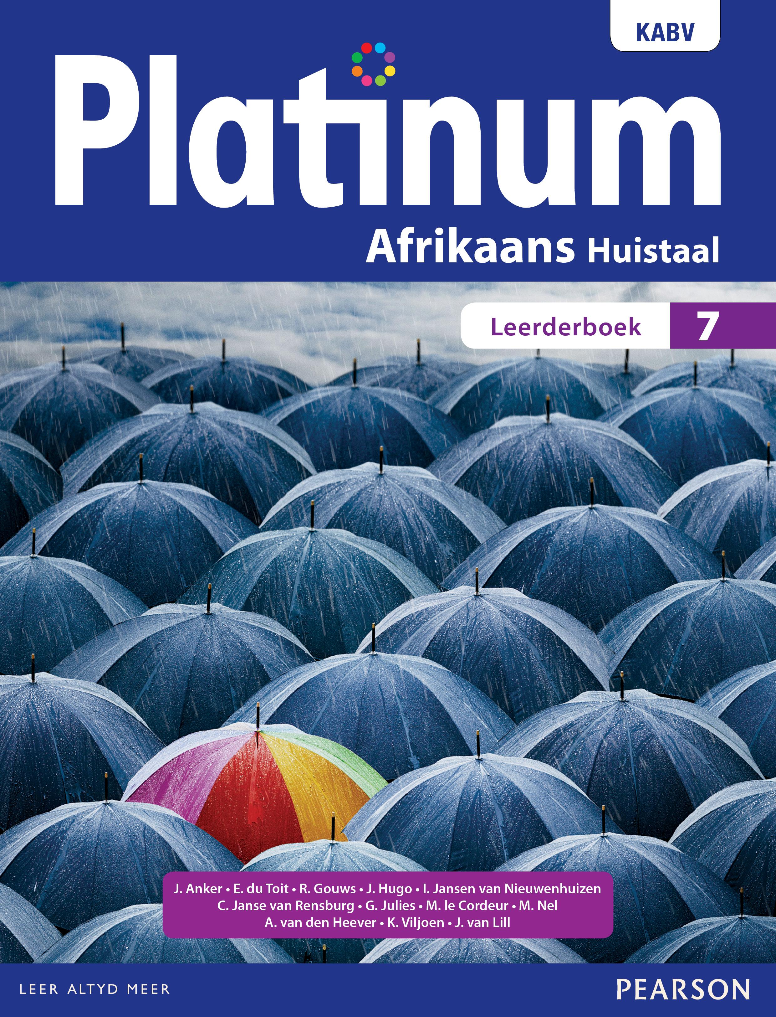 Picture of Platinum Afrikaans KABV: Platinum Afrikaans huistaal: Graad 7: Leerderboek Gr 7: Leerdersboek