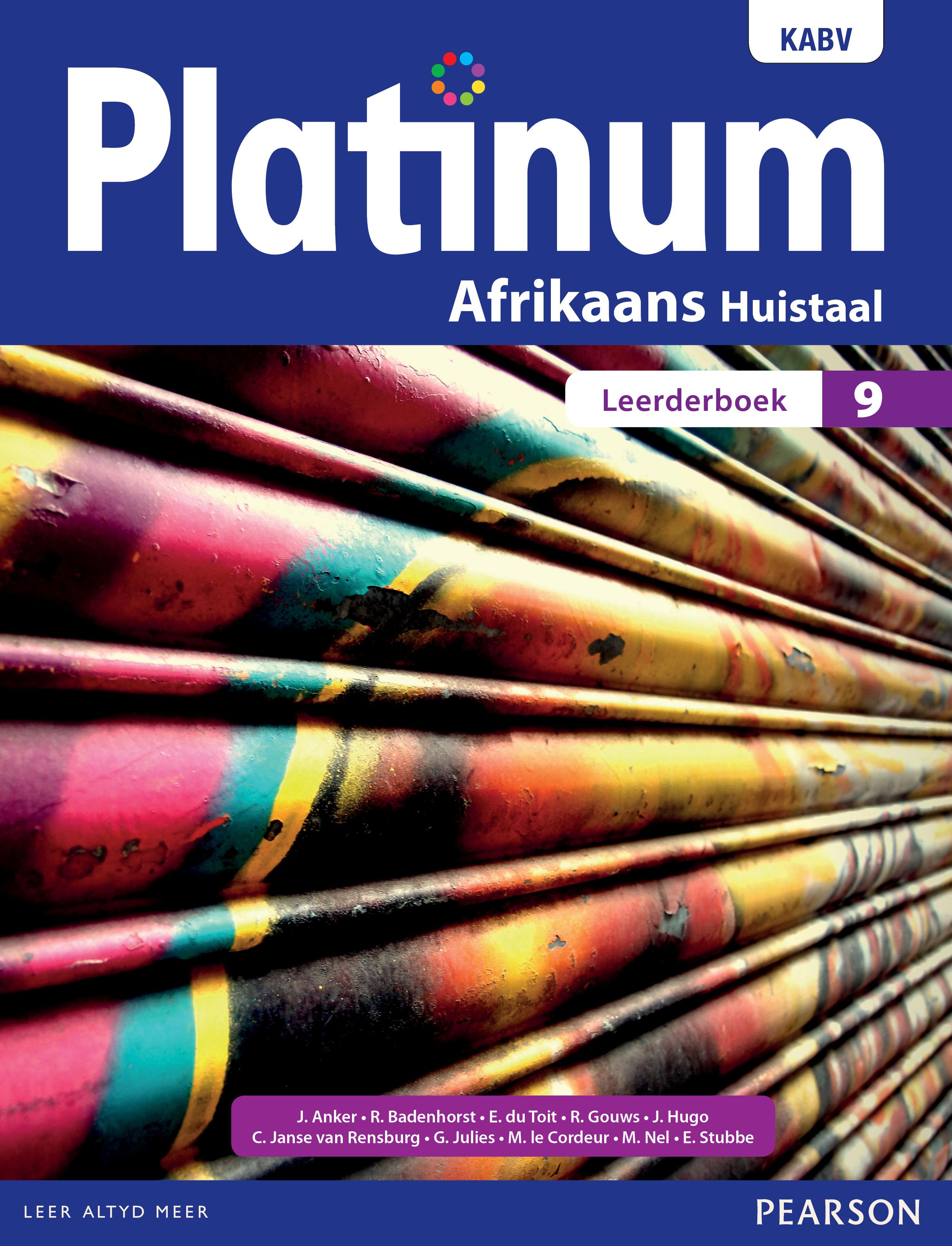 Picture of Platinum Afrikaans KABV: Gr 9: Leerdersboek : Huistaal