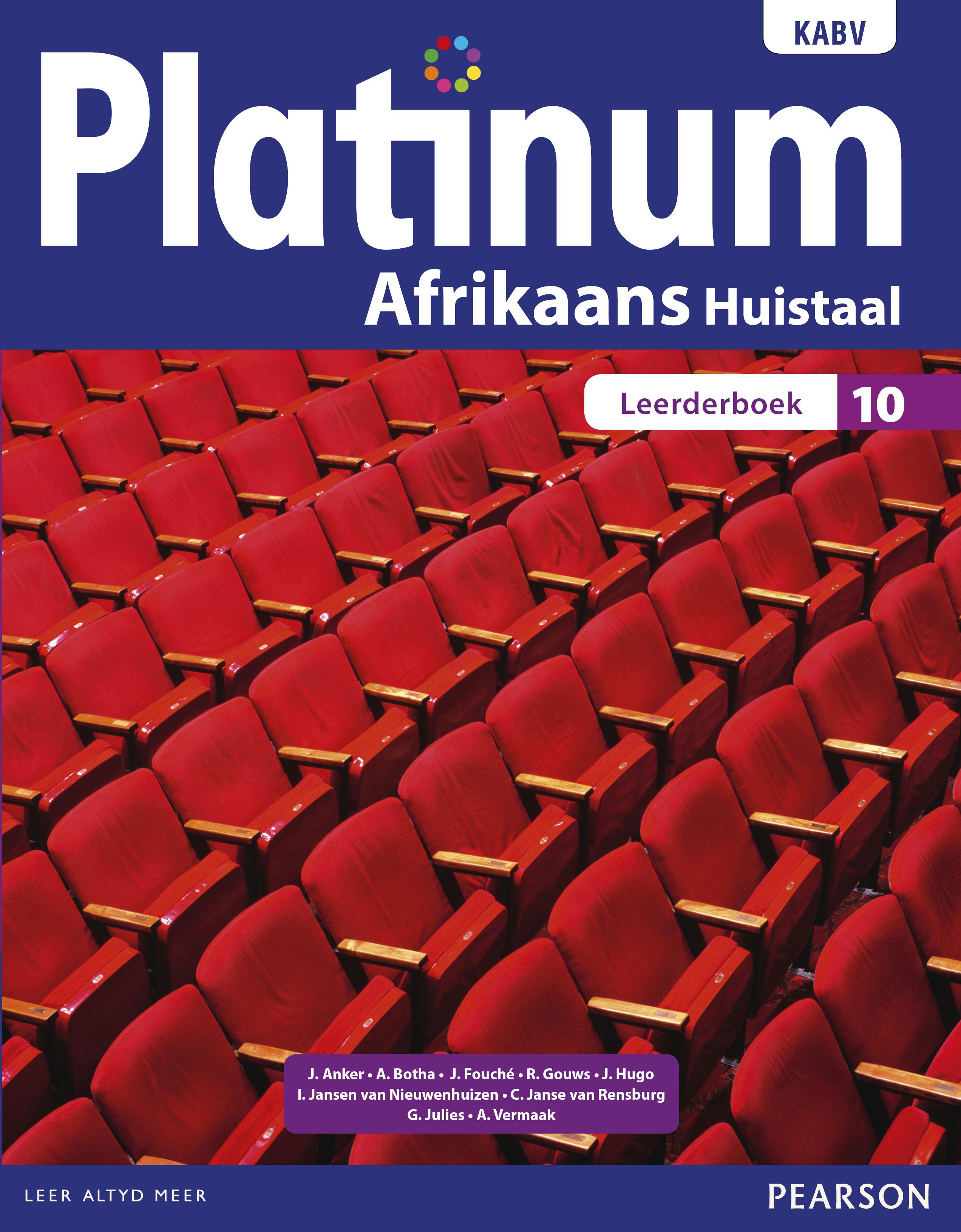 Picture of Platinum Afrikaans: Gr 10: Handboek : Huistaal
