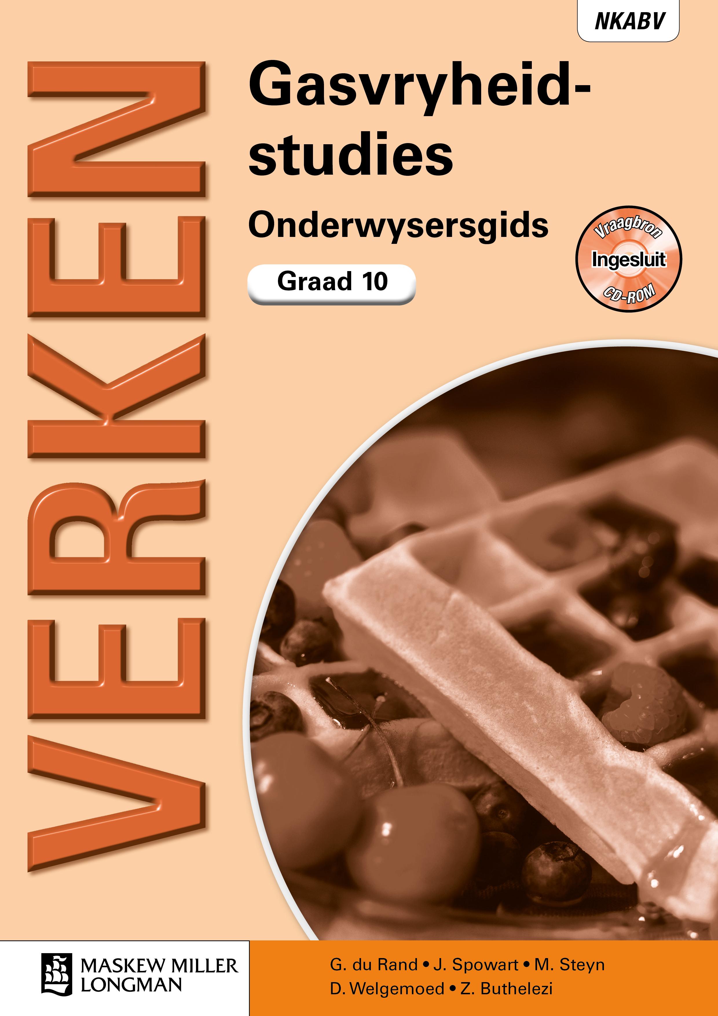 Picture of Verken Gasvryheidstudies: Verken gasvryheidstudies: Gr 10: Onderwysersgids Gr 10: Onderwysersgids
