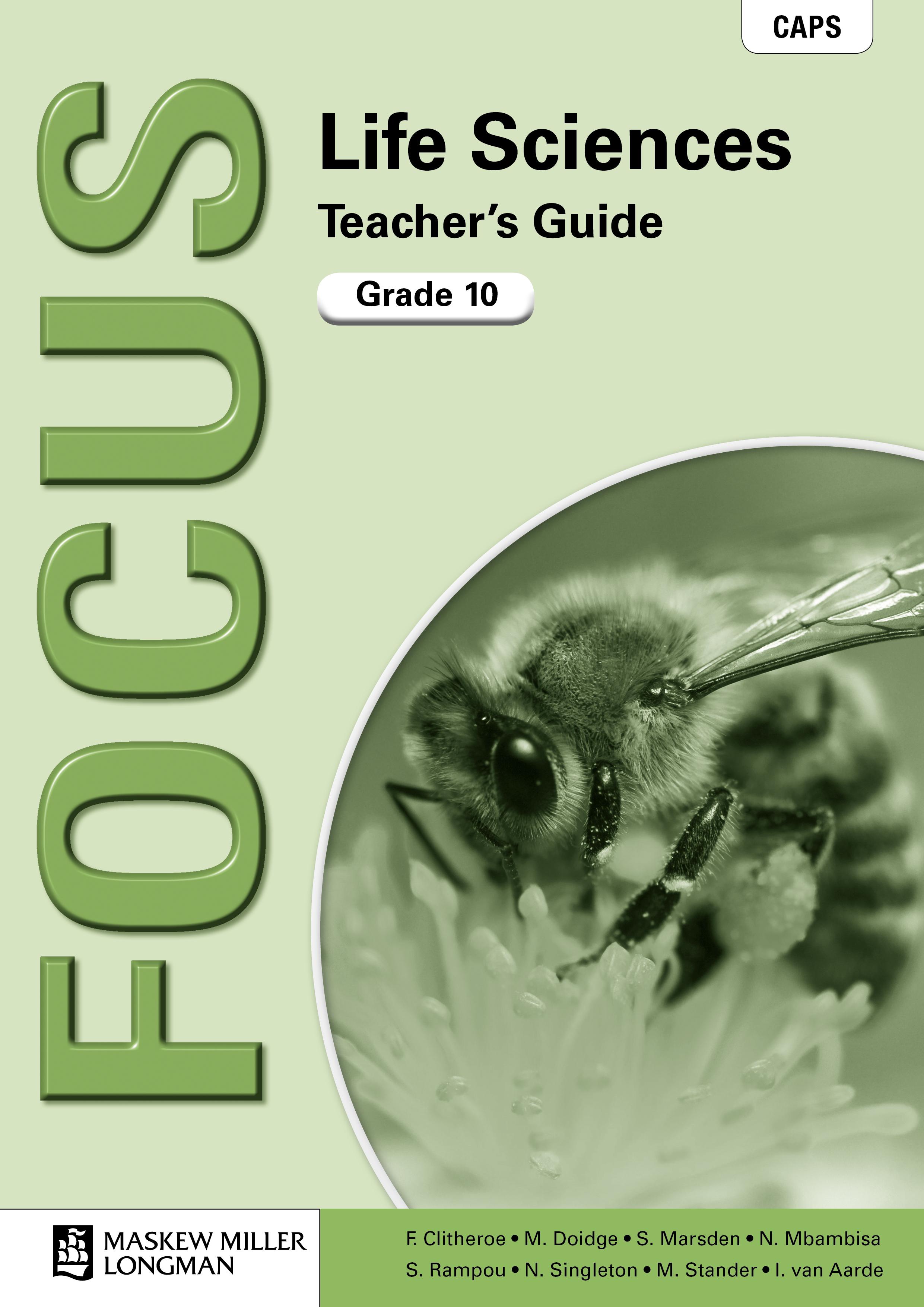 Picture of Focus Life Sciences: Focus life sciences: Gr 10: Teacher's guide Gr 10: Teacher's Guide