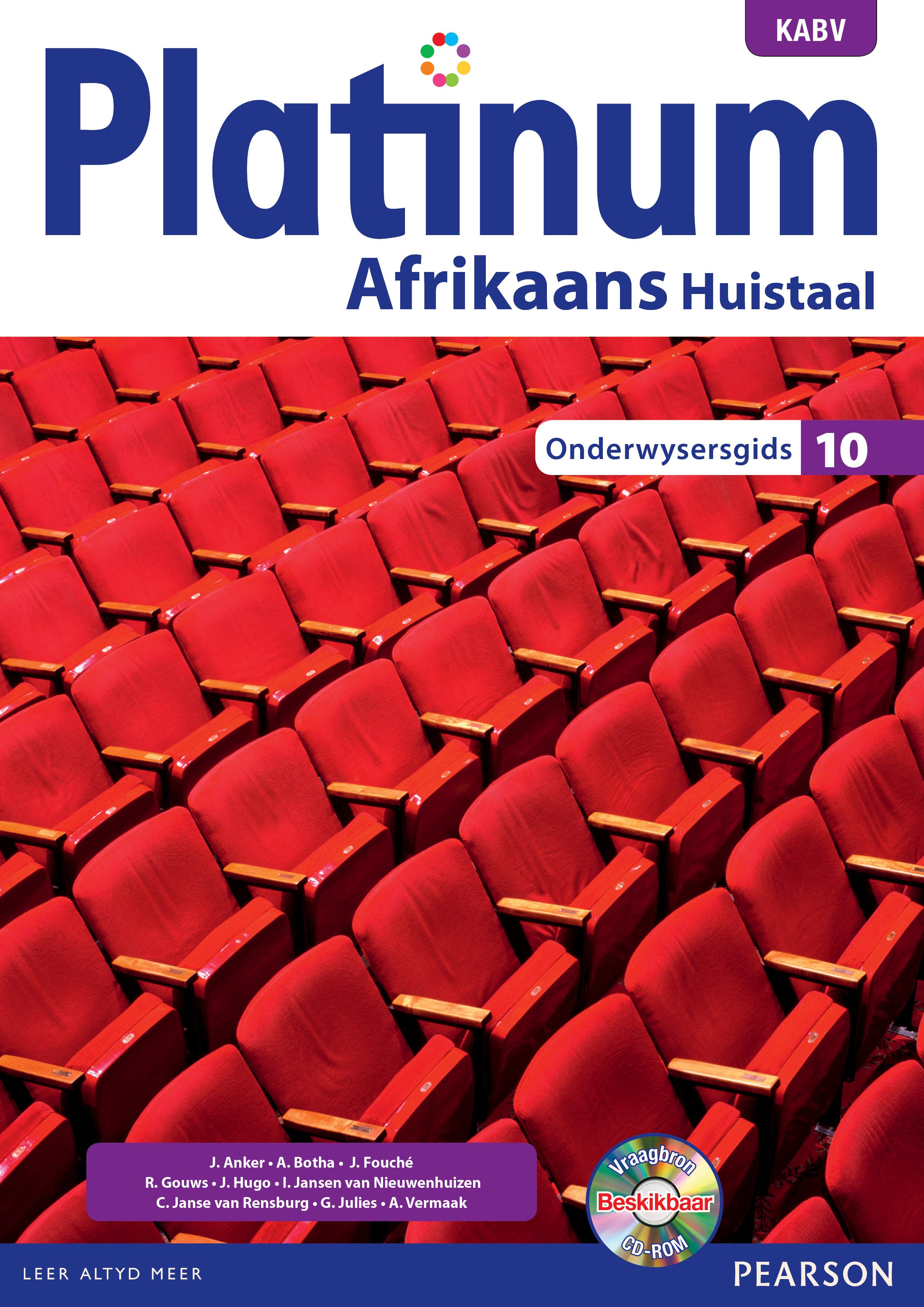 Picture of Platinum Afrikaans: Gr 10: Onderwysersgids : Huistaal