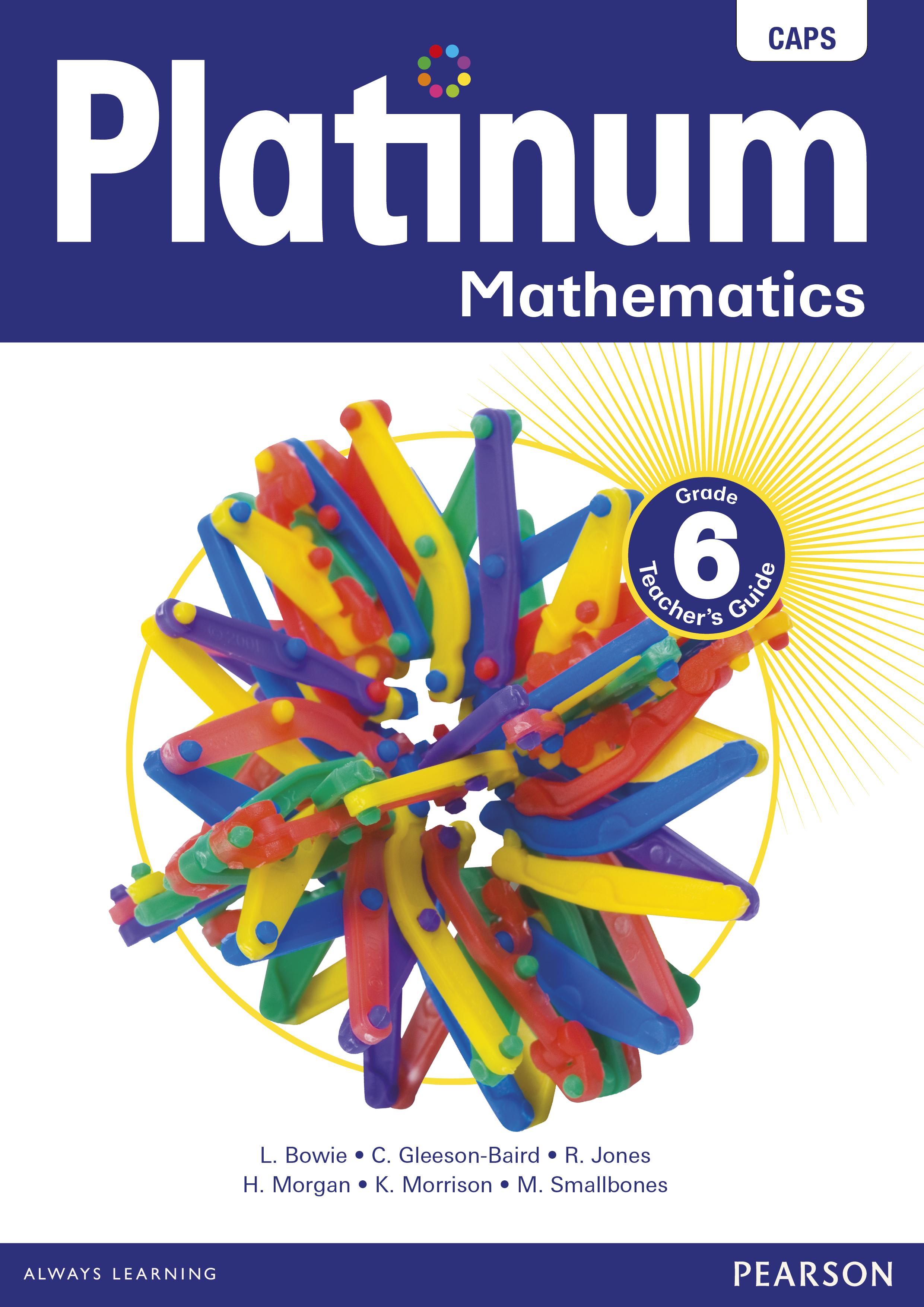 Picture of Platinum mathematics CAPS: Gr 6: Teacher's guide