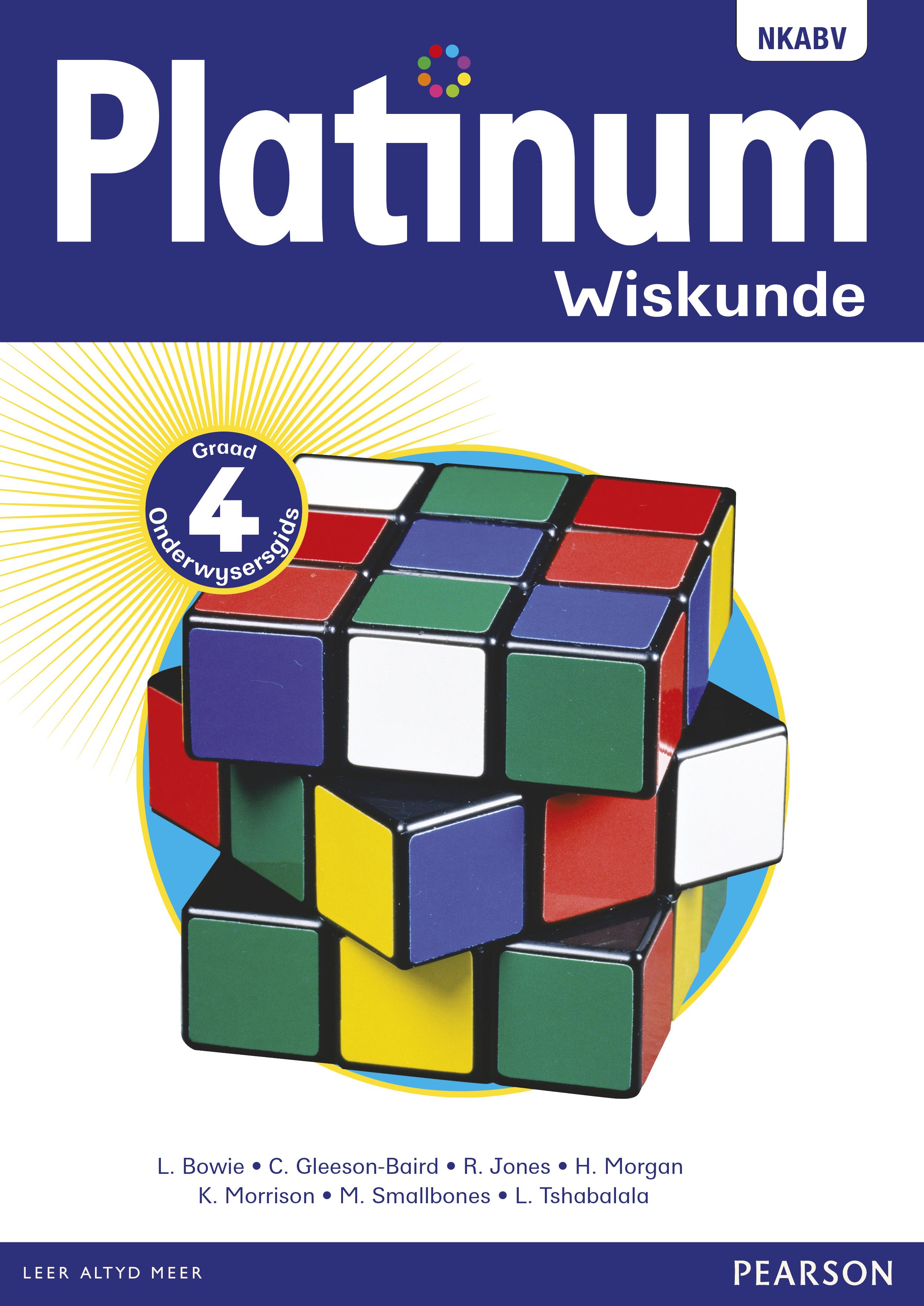 Picture of Platinum wiskunde NKABV: Gr 4: Onderwysersgids
