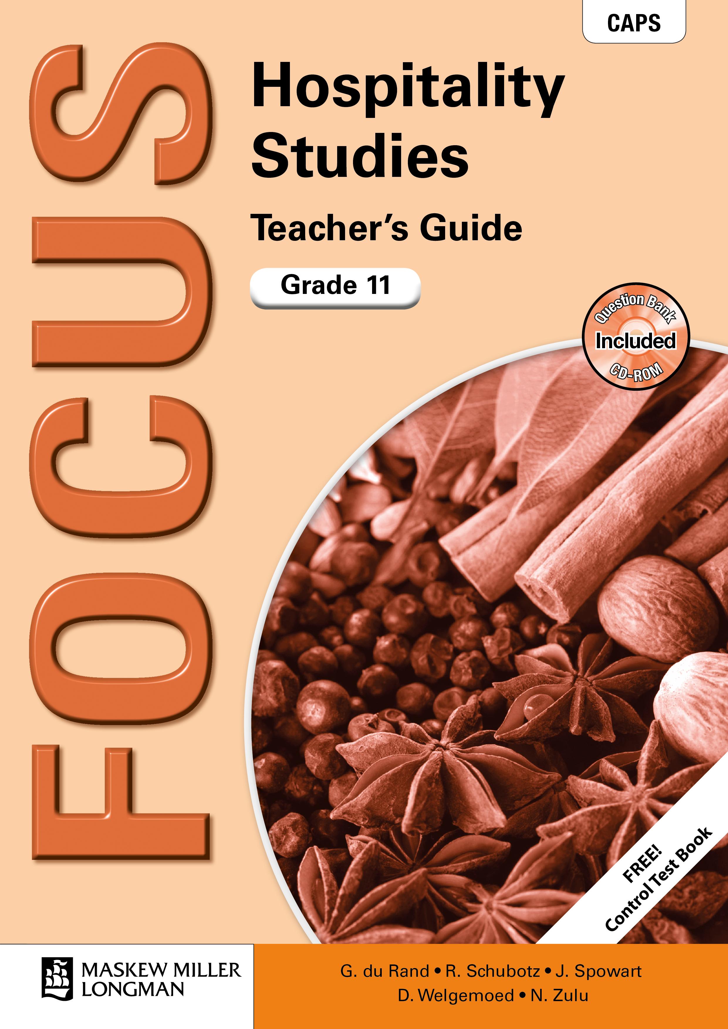 Picture of Focus hospitality studies CAPS: Gr 11: Teacher's guide