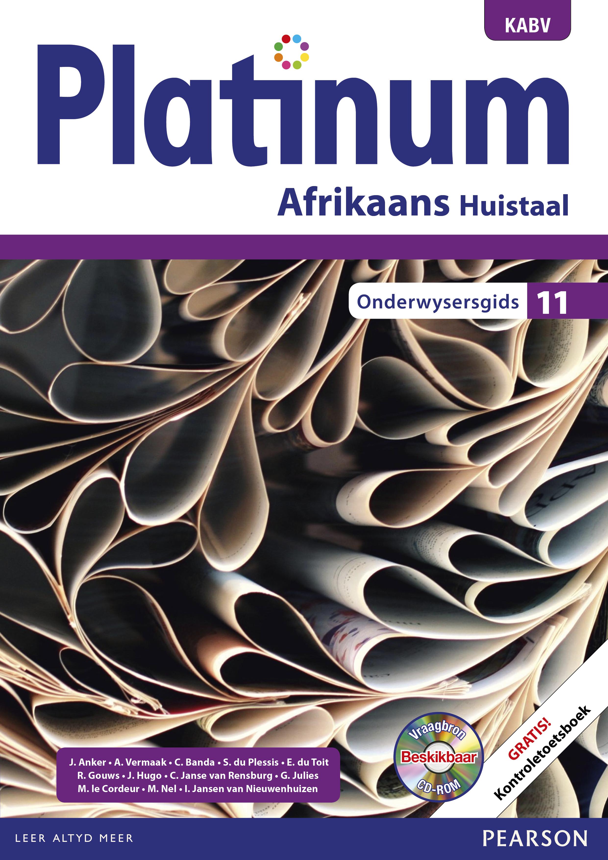 Picture of Platinum Afrikaans NKABV: Gr 11: Onderwysersgids : Huistaal