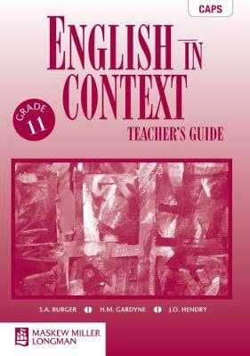 Picture of English in Context CAPS: English in Context: Grade 11: Teacher's Guide Gr 11: Teacher's Guide