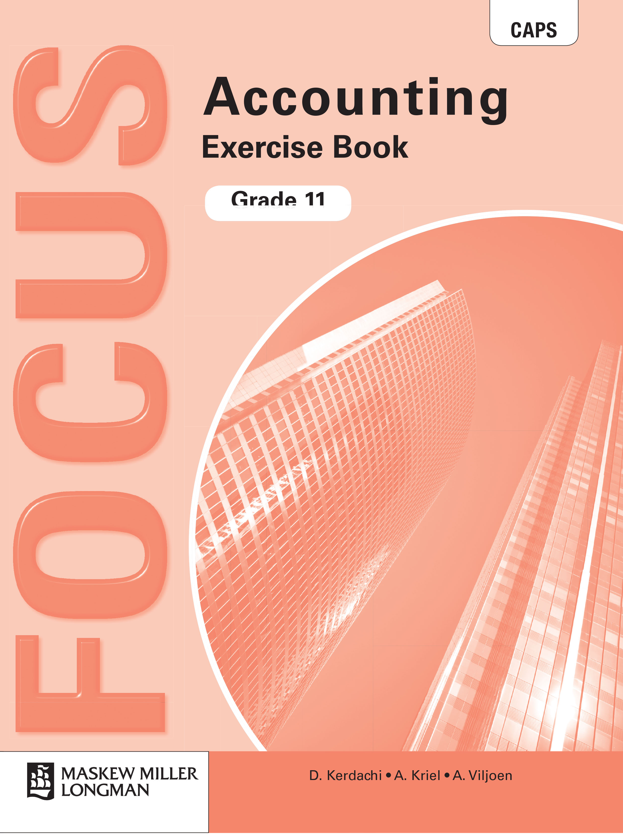 Picture of Focus Accounting : Grade 11 : Exercise Book : CAPS compliant