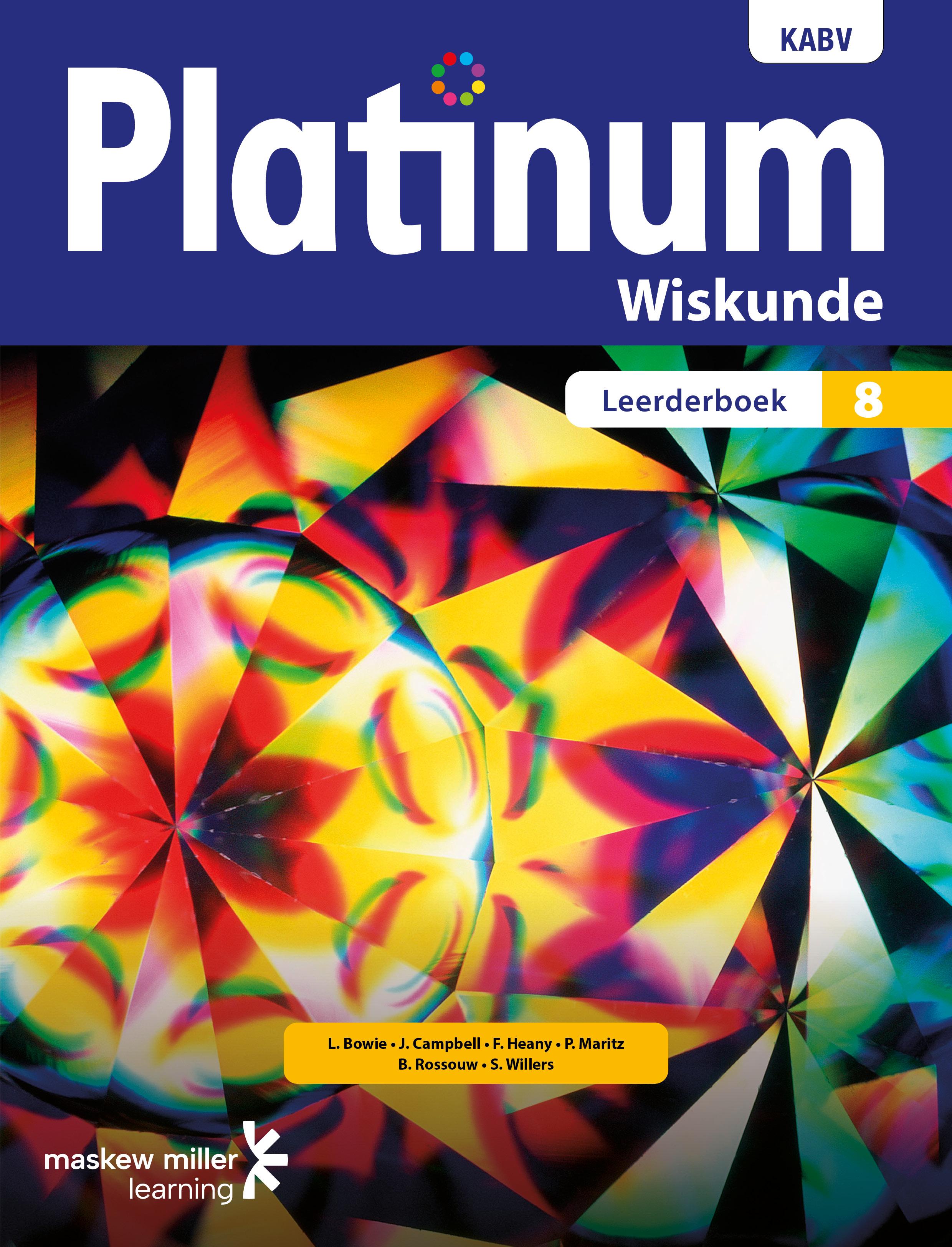Platinum wiskunde: Graad 8: Leerderboek