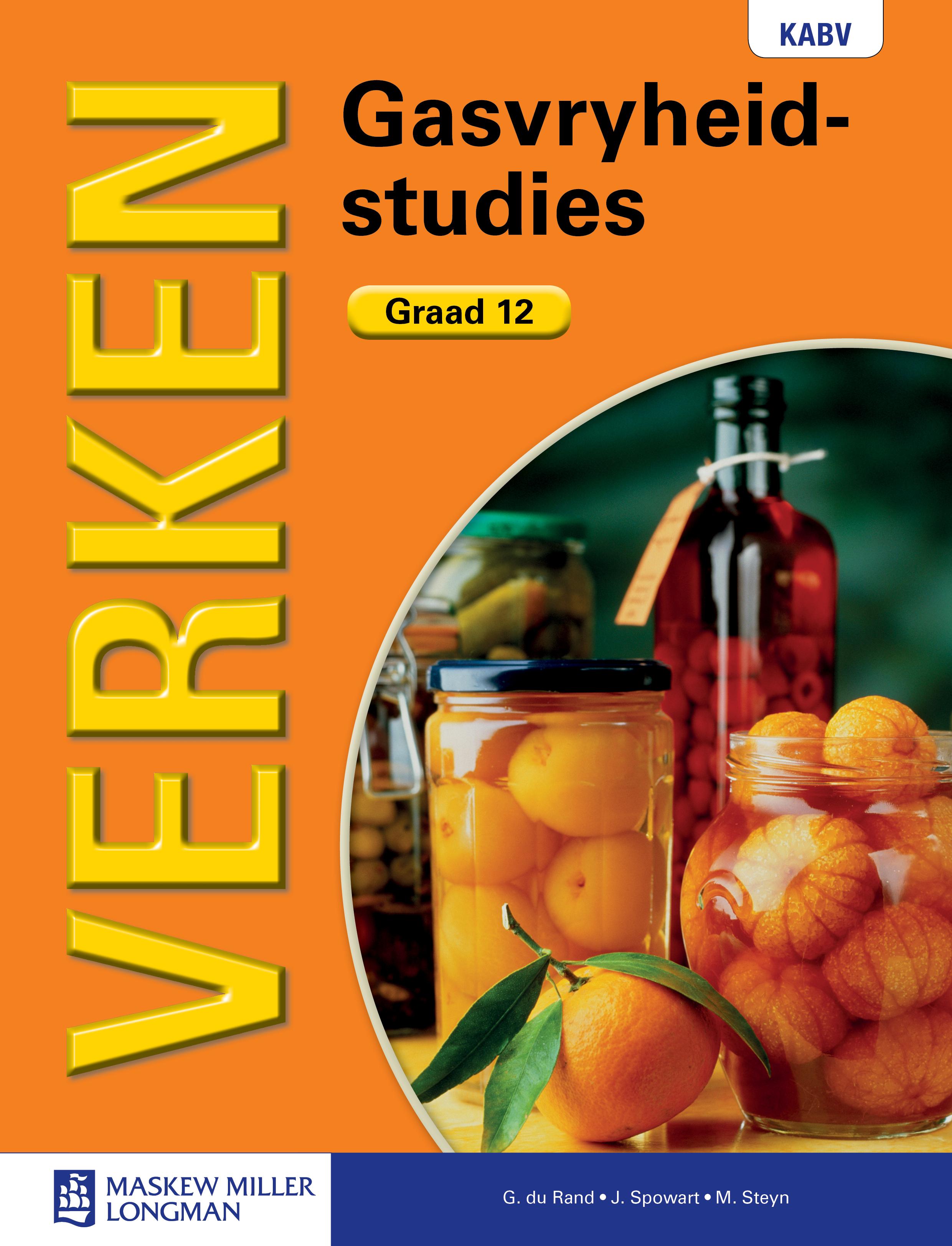 Picture of Verken gasvryheidstudies KABV: Gr 12: Leerdersboek