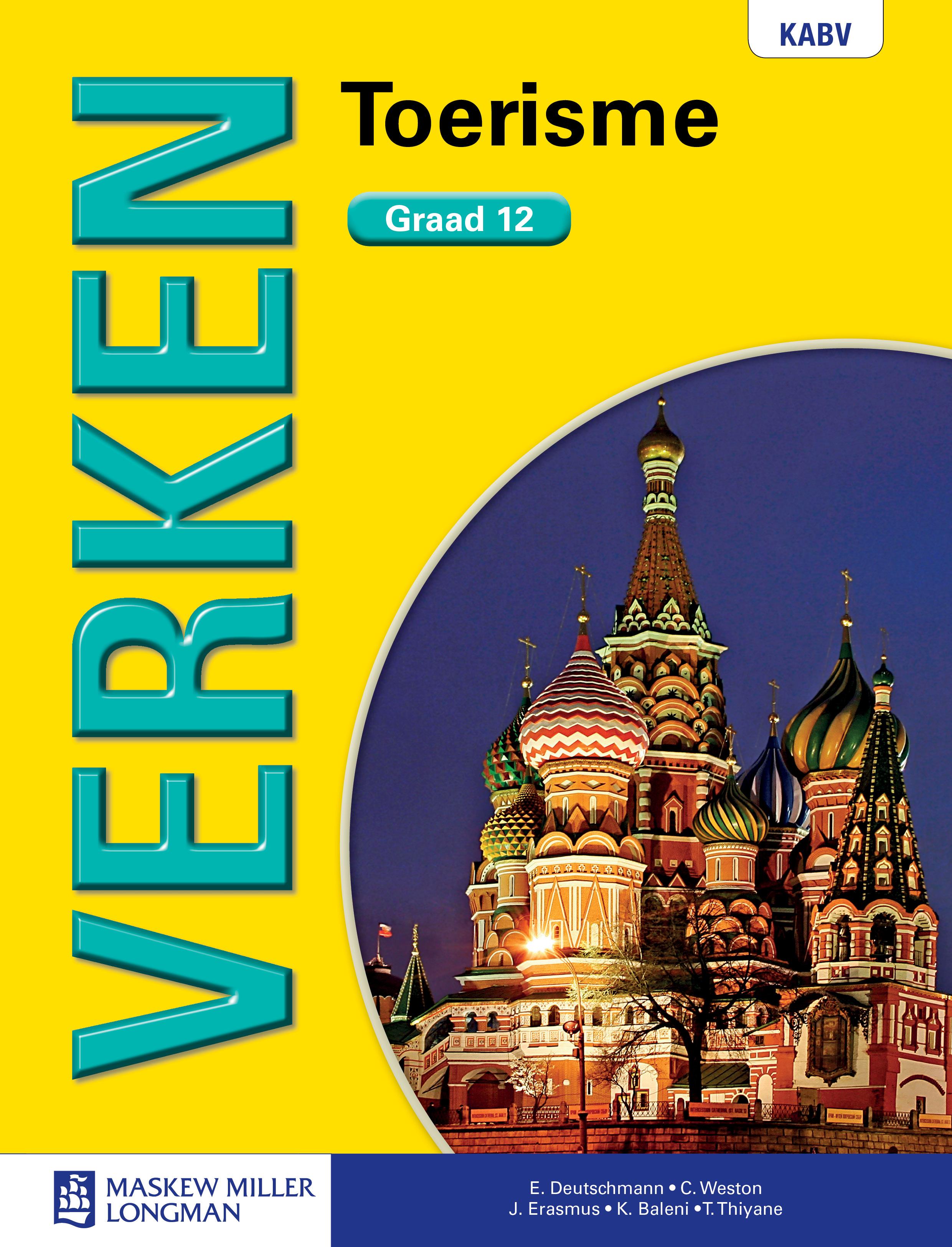 Verken toerisme KABV: Gr 12: Leerdersboek