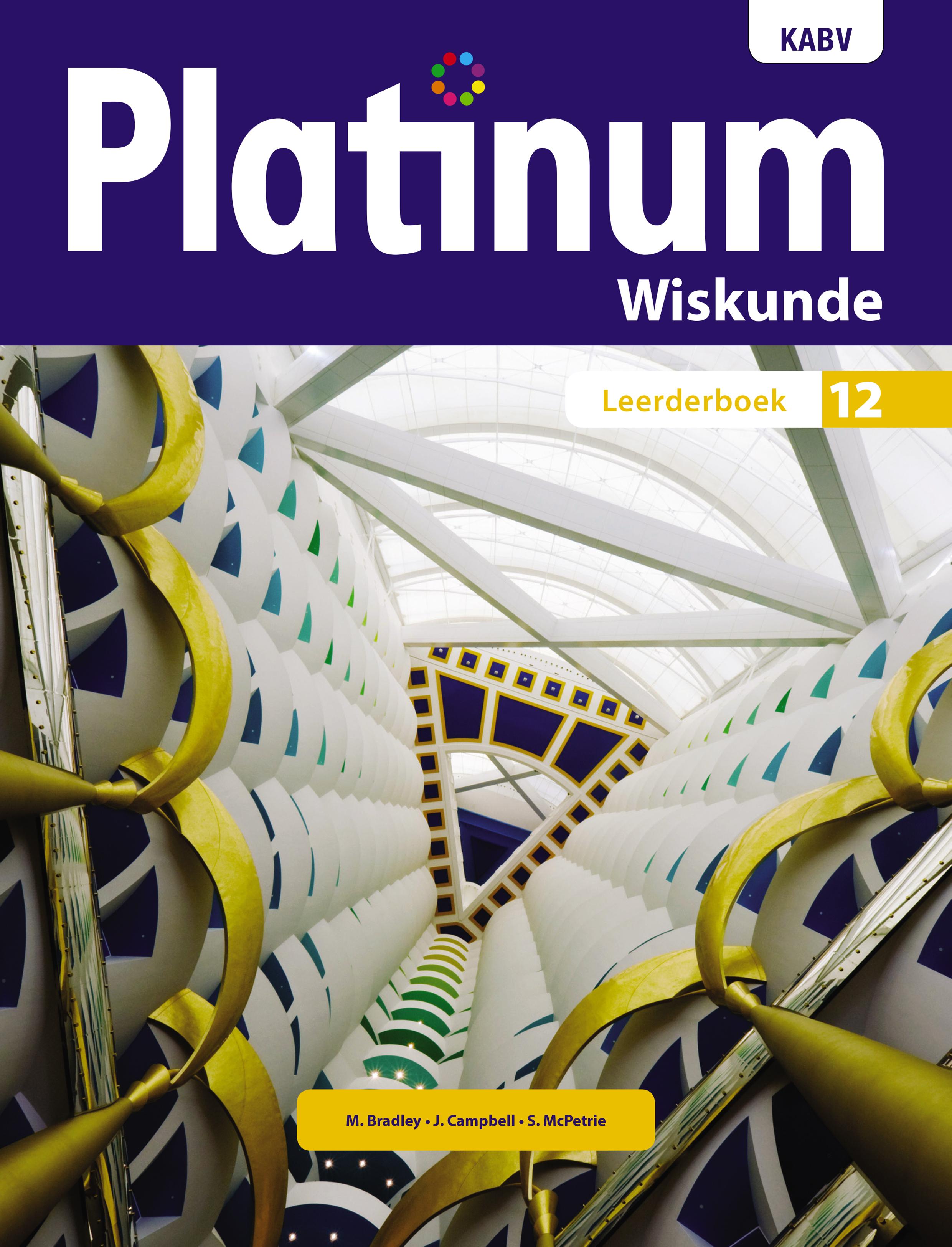 Picture of Platinum Wiskunde KABV: Platinum wiskunde: Graad 12: Leerderboek Gr 12: Leerdersboek
