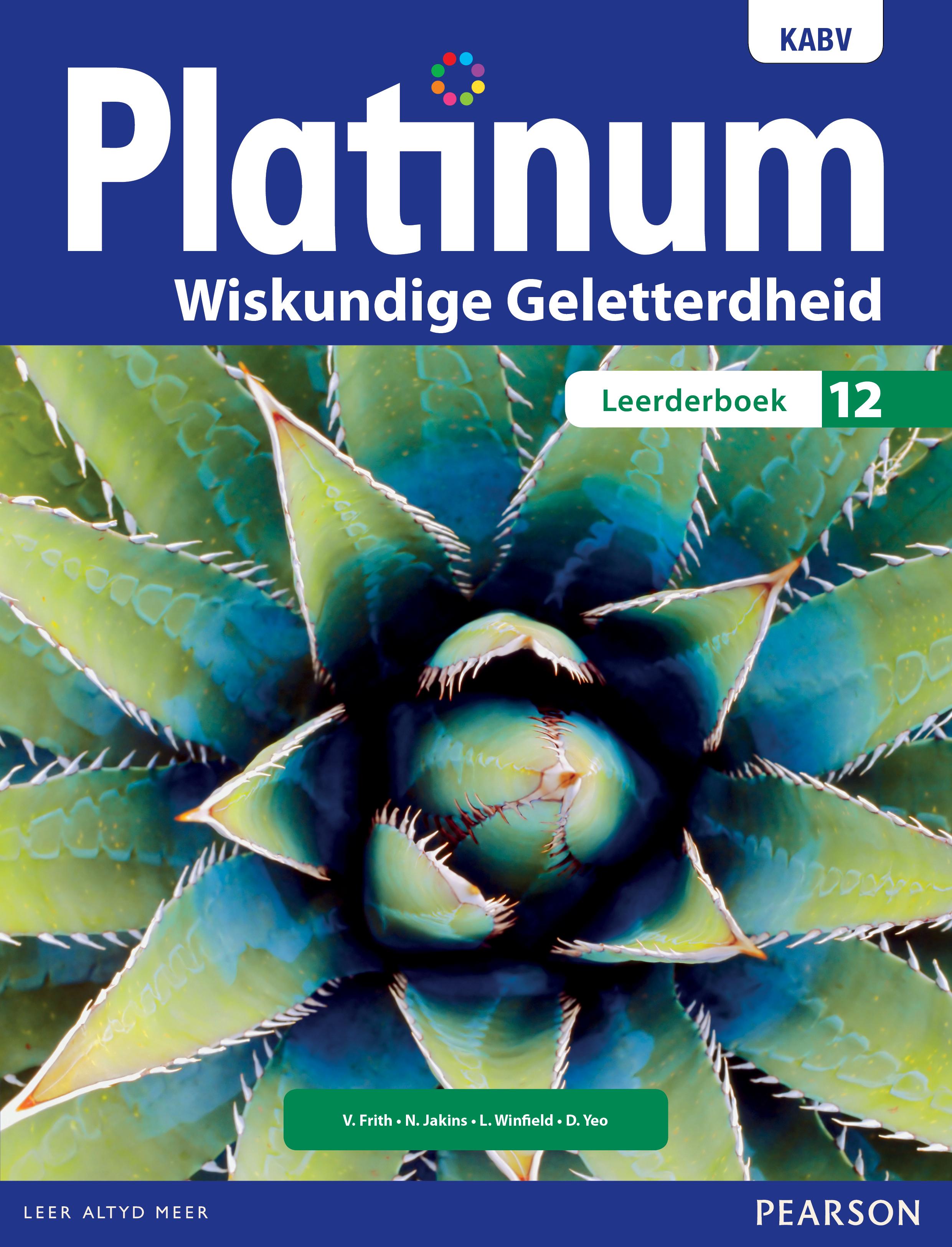 Picture of Platinum wiskunde geletterdheid: Gr 12: Leerdersboek