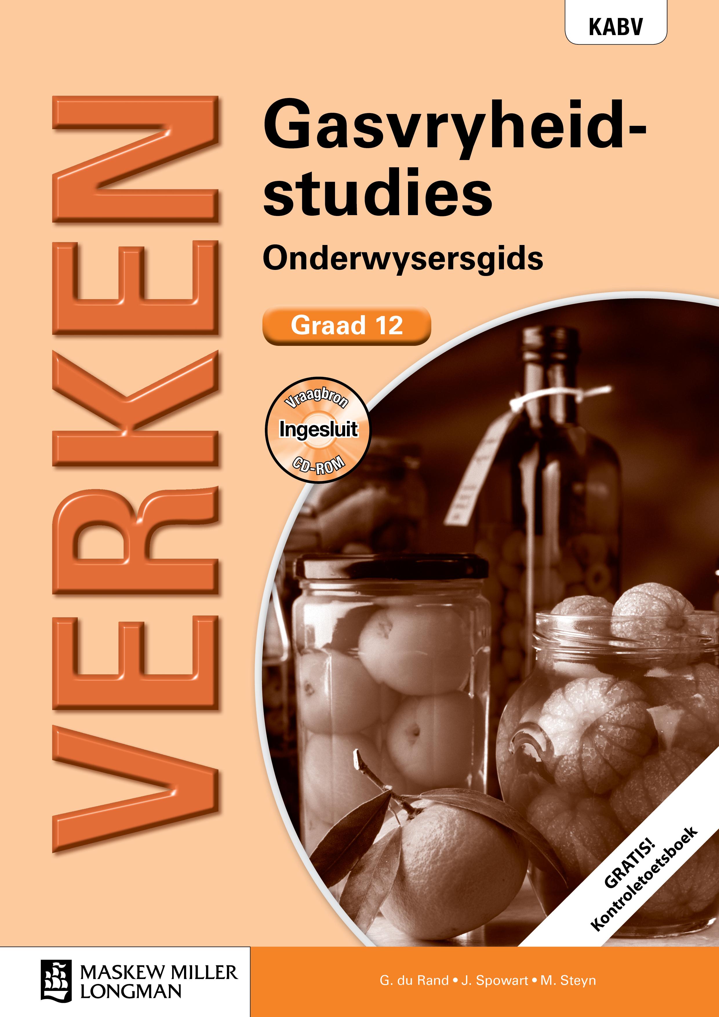 Picture of Verken gasvryheidstudies KABV: Gr 12: Onderwysersgids