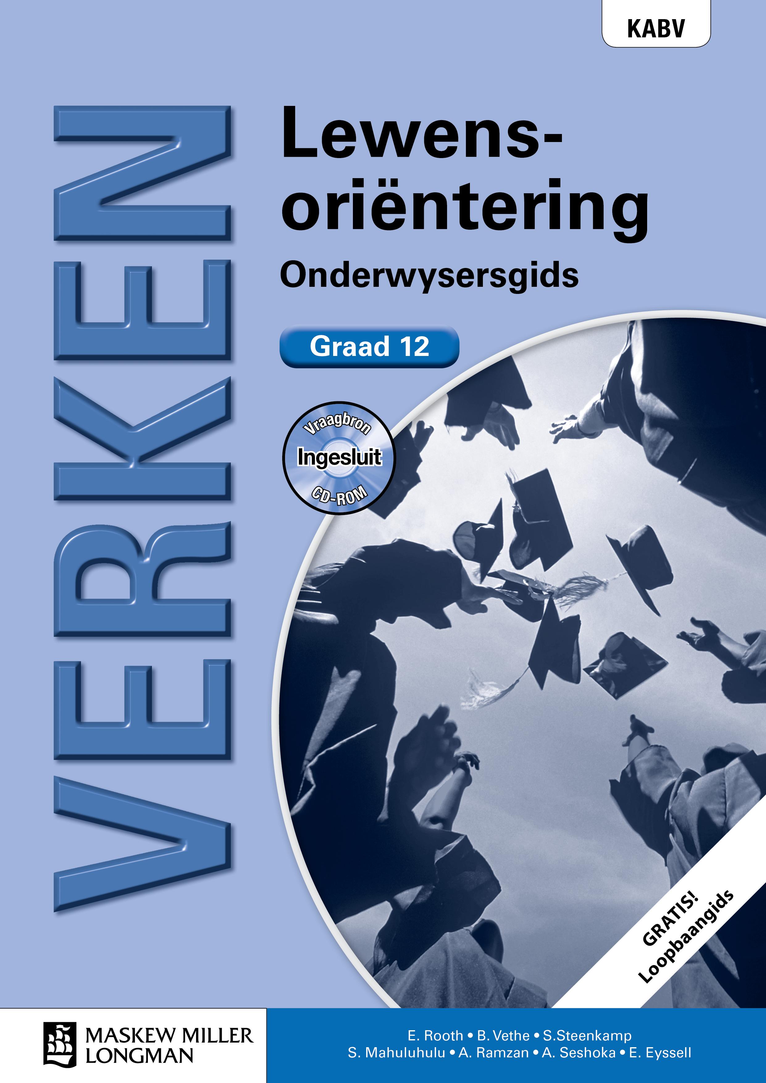 Picture of Verken lewensorientering KABV: Gr 12: Onderwysersgids