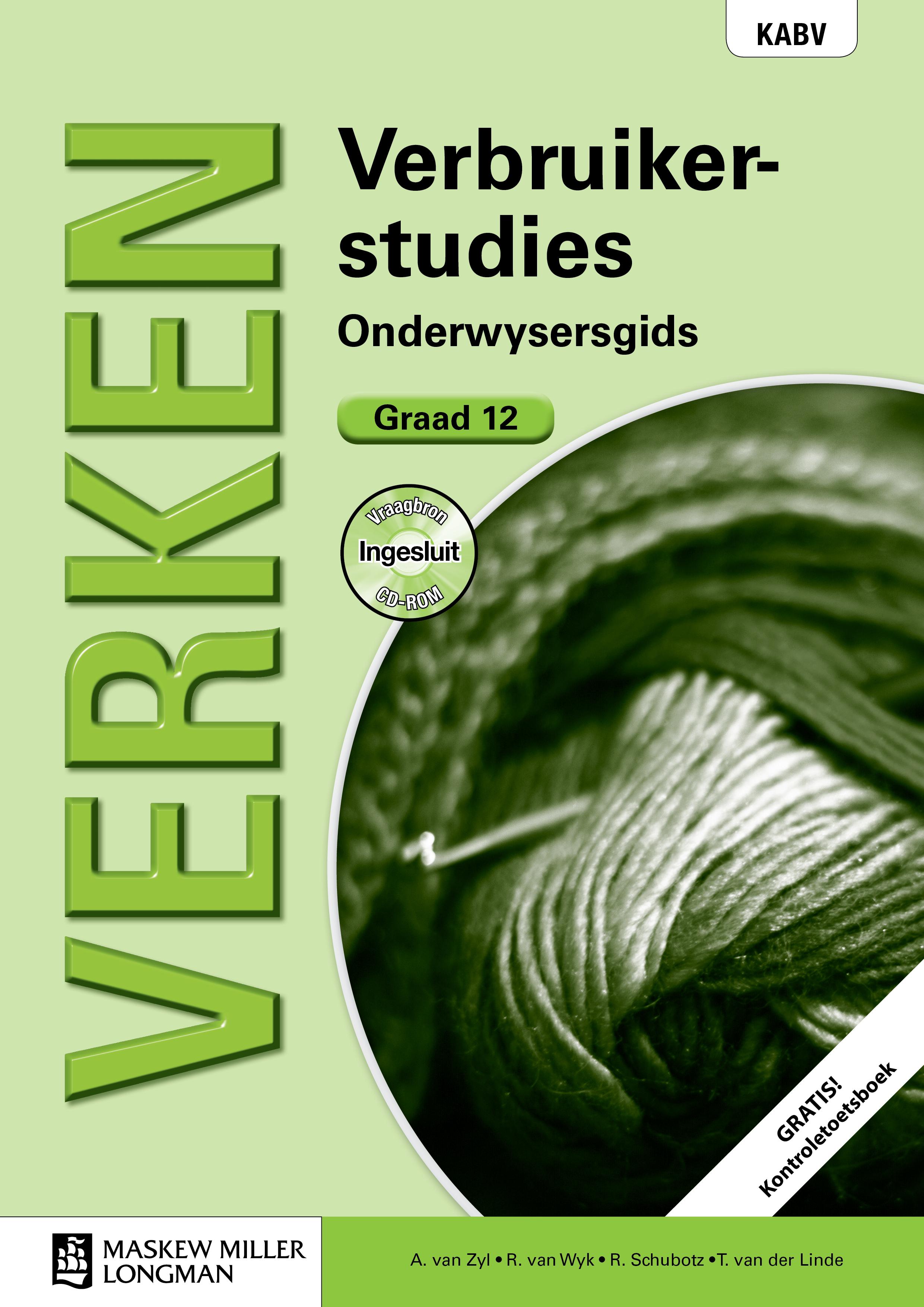 Picture of Verken verbruikerstudies KABV: Gr 12: Onderwysersgids