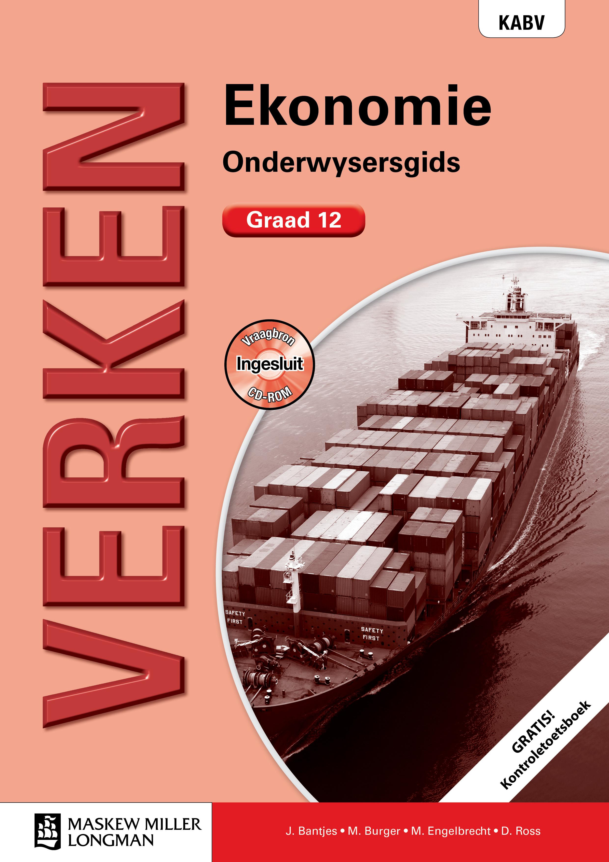 Picture of Verken ekonomie KABV: Gr 12: Onderwysersgids