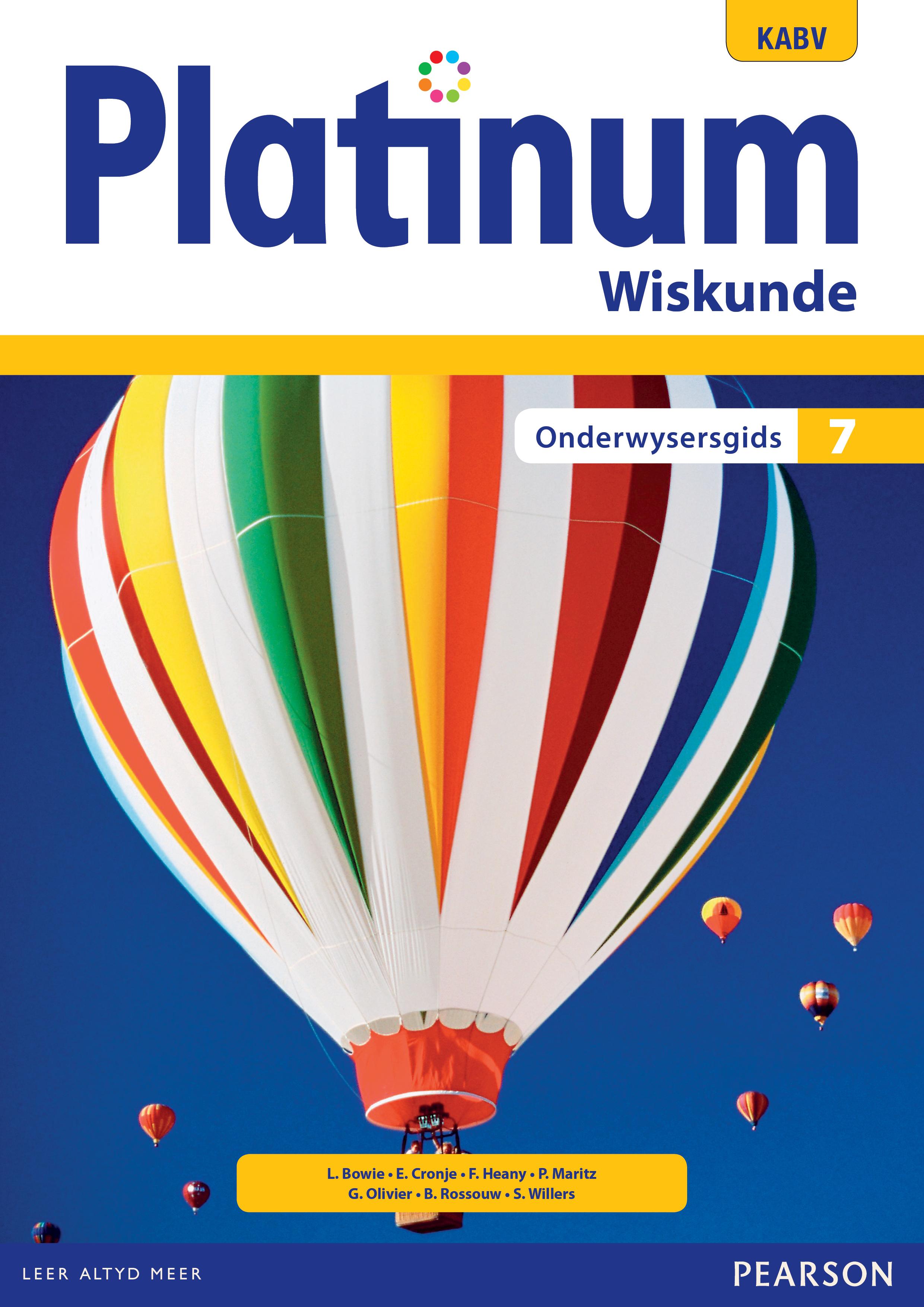 Picture of Platinum wiskunde KABV: Gr 7: Onderwysersgids
