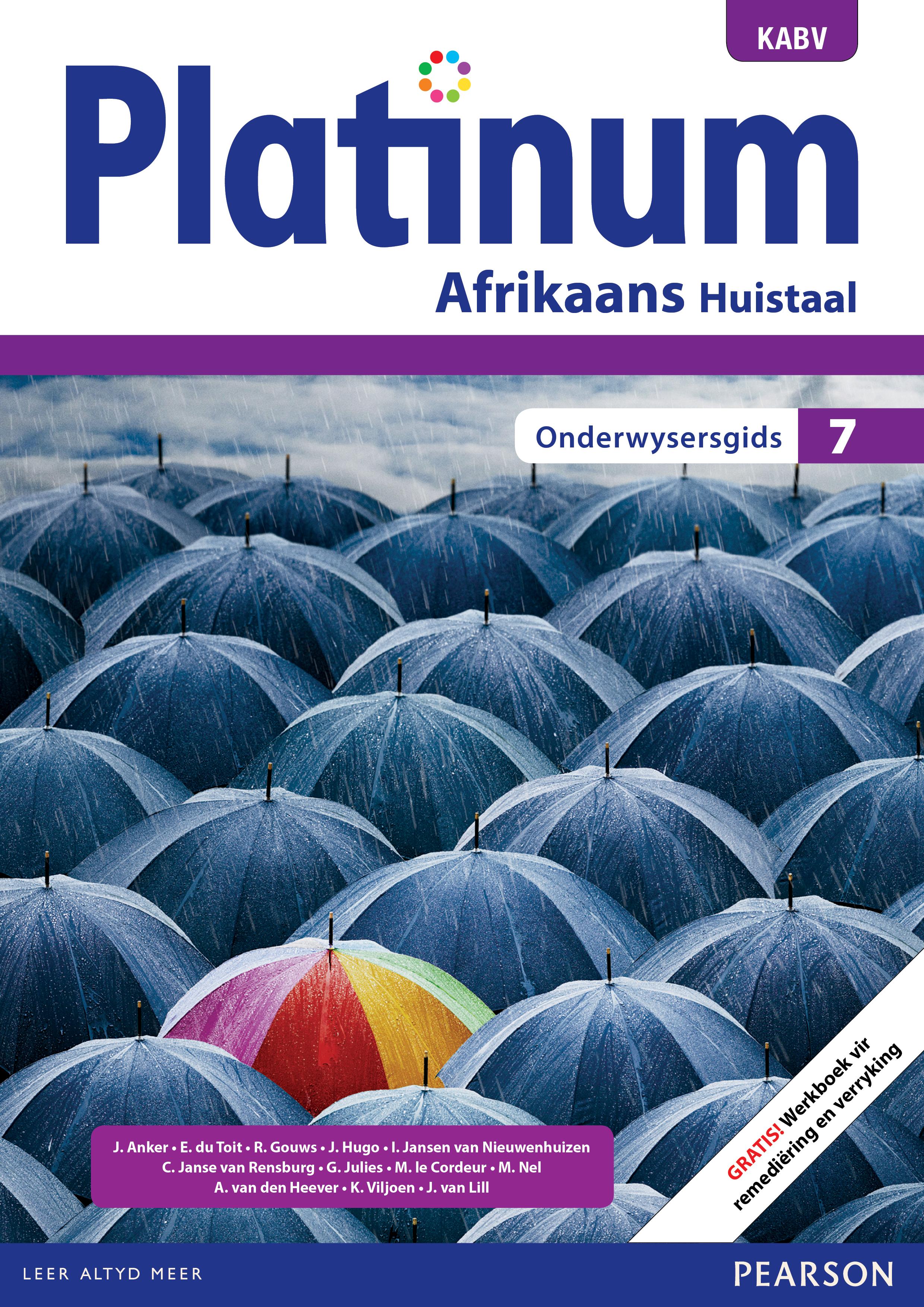 Picture of Platinum Afrikaans KABV: Gr 7: Onderwysersgids : Huistaal