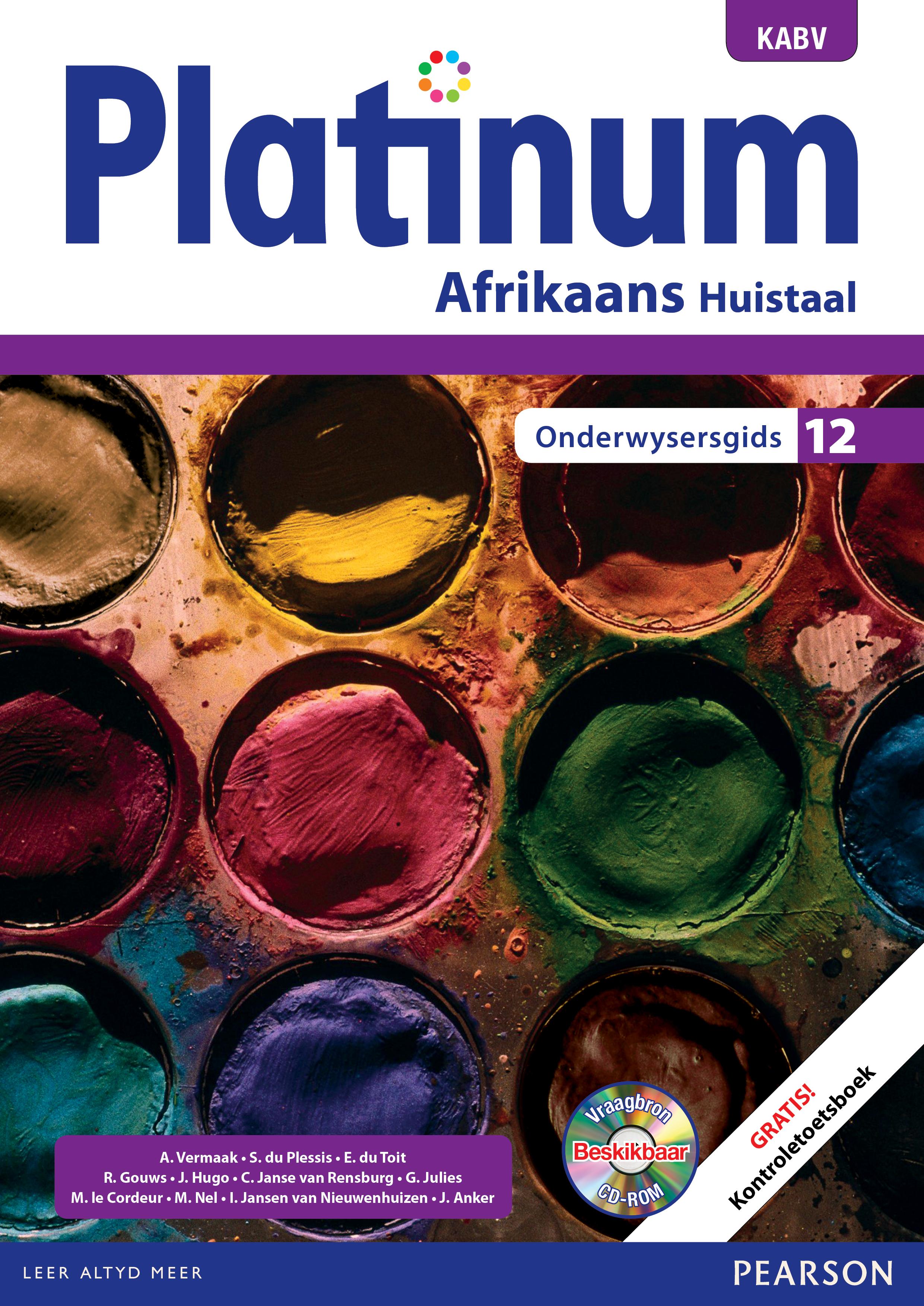 Picture of Platinum Afrikaans KABV: Gr 12: Onderwysersgids