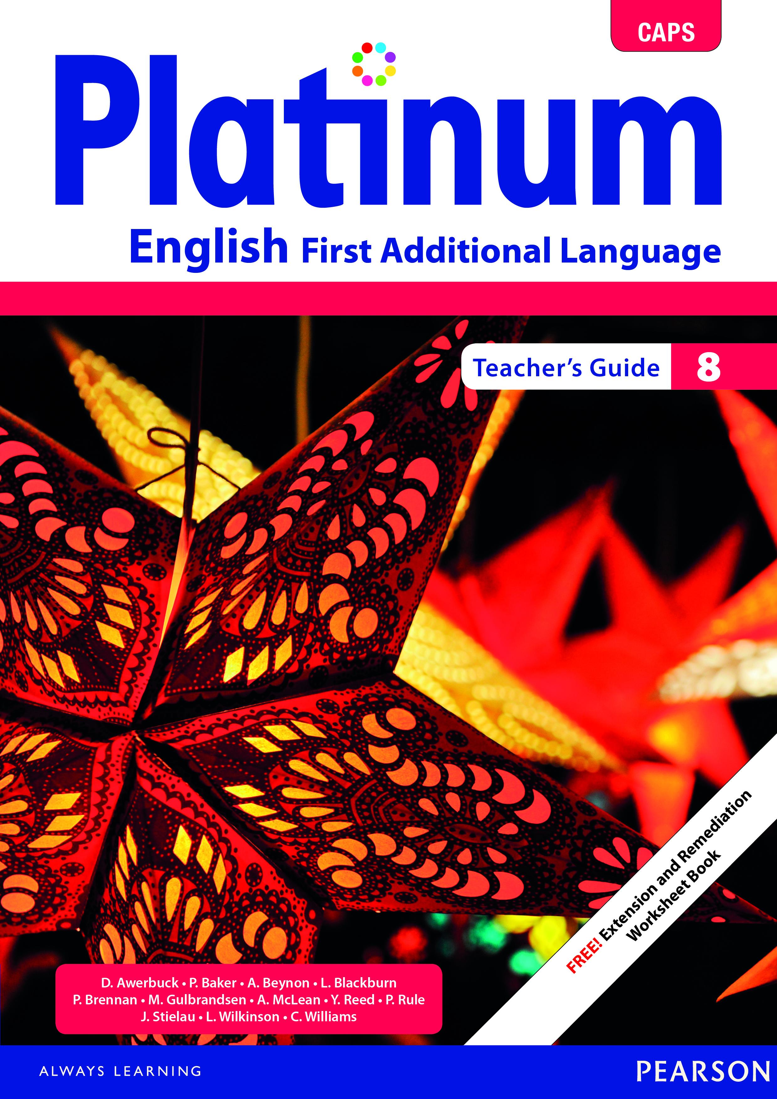 Platinum English CAPS: Gr 8: Teacher's guide : First additional language