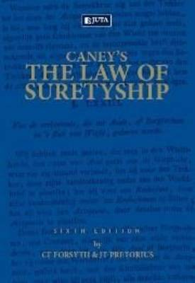 Picture of Caney's the law of suretyship