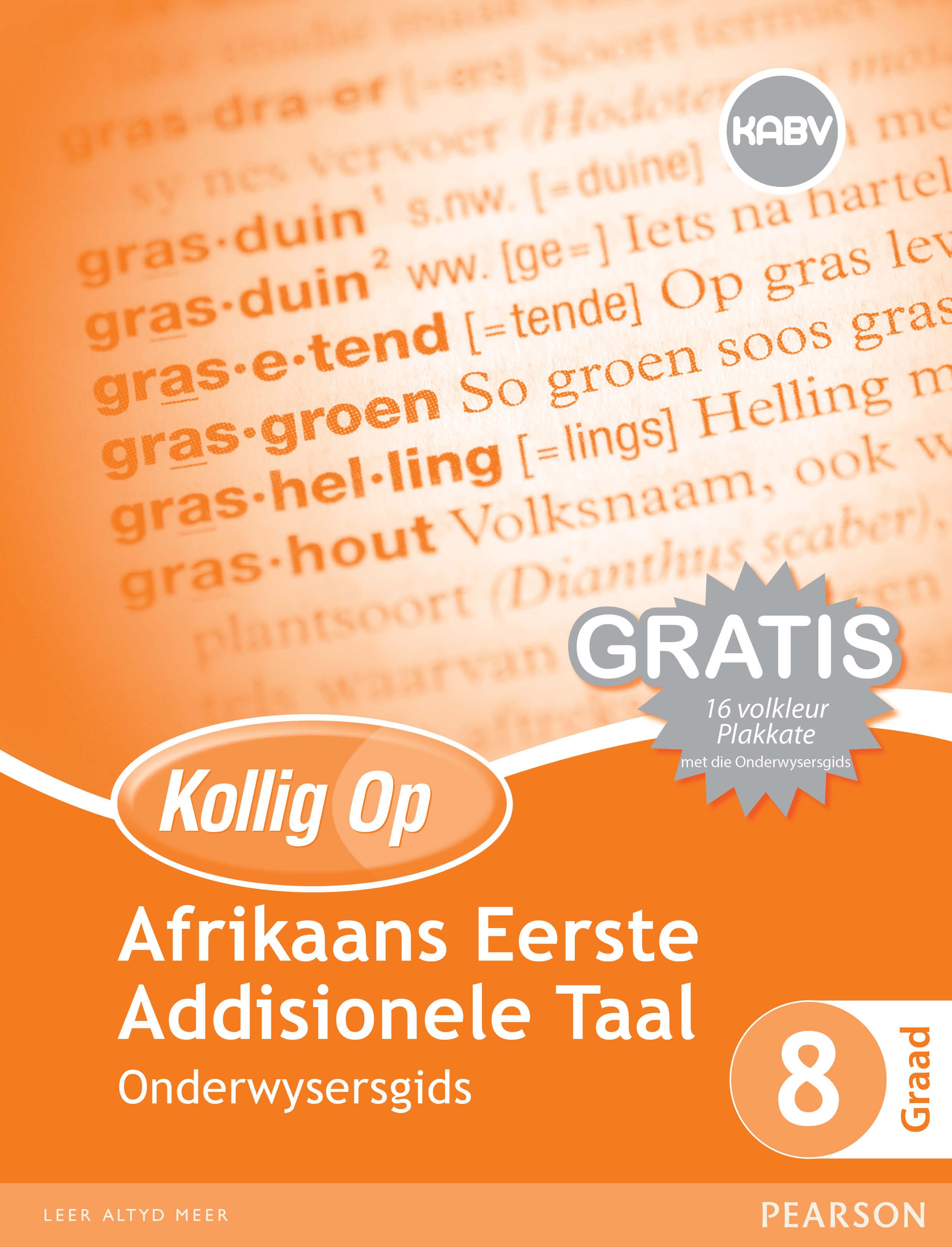 Picture of Kollig Op Afrikaans Eerste Addisionele Taal: Graad 8: Onderwysersgids en Gratis Plakaat Pak