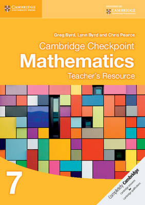 Picture of Cambridge Checkpoint Mathematics Teacher's Resource 7
