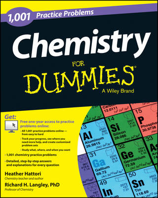 Picture of Chemistry: 1,001 Practice Problems For Dummies (+ Free Online Practice)