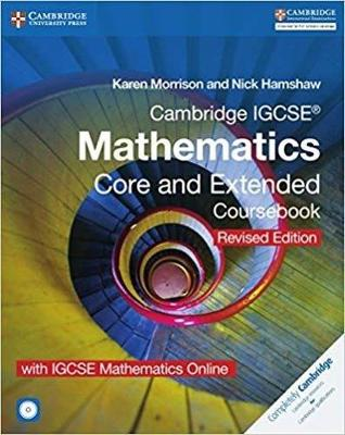 Picture of Cambridge IGCSE (R) Mathematics Core and Extended Coursebook with CD-ROM and IGCSE Mathematics Online Revised Edition