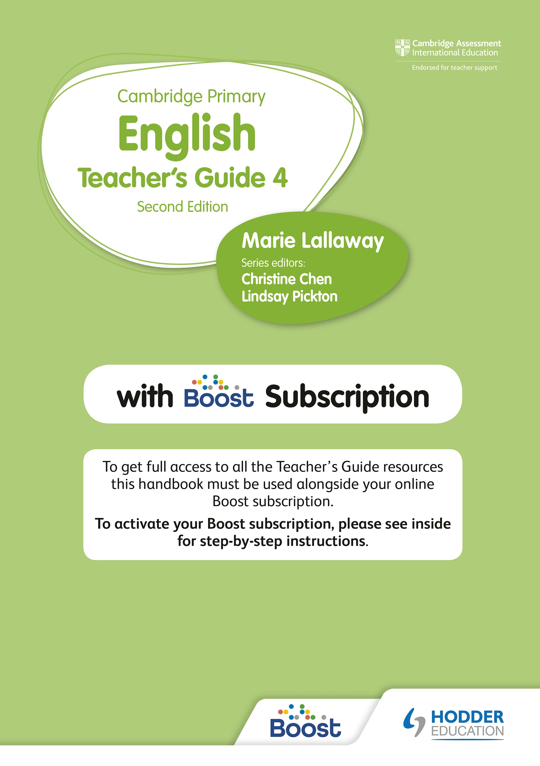 Cambridge Primary English Teacher's Guide 4 with Boost Subscription