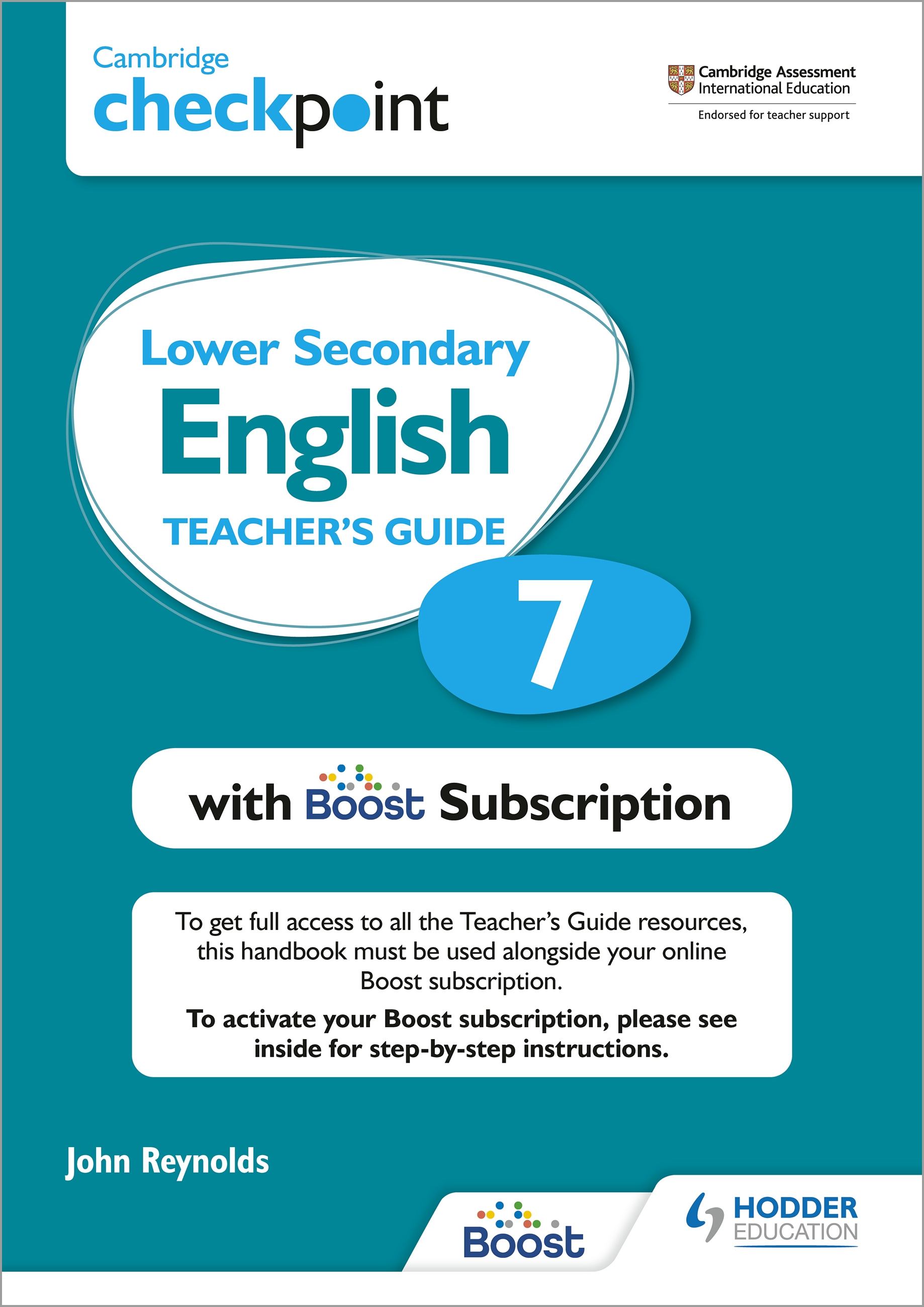 Cambridge Checkpoint Lower Secondary English Teacher's Guide 7 with Boost Subscription Booklet : Third Edition